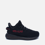Кроссовки для малышей adidas Originals Yeezy Boost 350 V2 Infant Core Black/Core Black/Red фото- 0