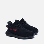 Кроссовки для малышей adidas Originals Yeezy Boost 350 V2 Infant Core Black/Core Black/Red фото- 2