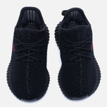 Кроссовки для малышей adidas Originals Yeezy Boost 350 V2 Infant Core Black/Core Black/Red фото- 4
