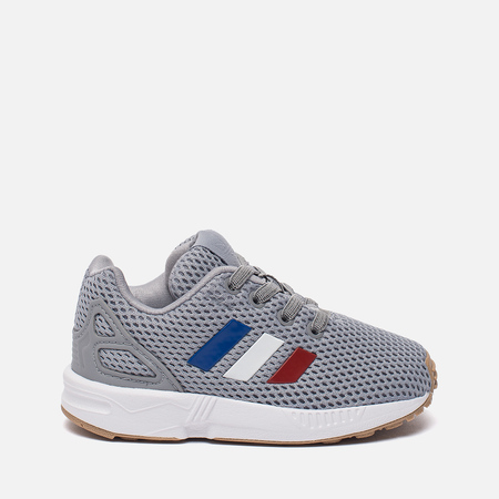 Кроссовки для малышей adidas Originals ZX Flux EL Infant Grey/White