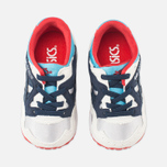 ASICS Gel-Lyte V Children's Sneakers Soft Grey/Navy photo- 4