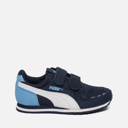 Кроссовки для малышей Puma Cabana Racer Mesh PS Peacoat/White/Little Boy Blue
