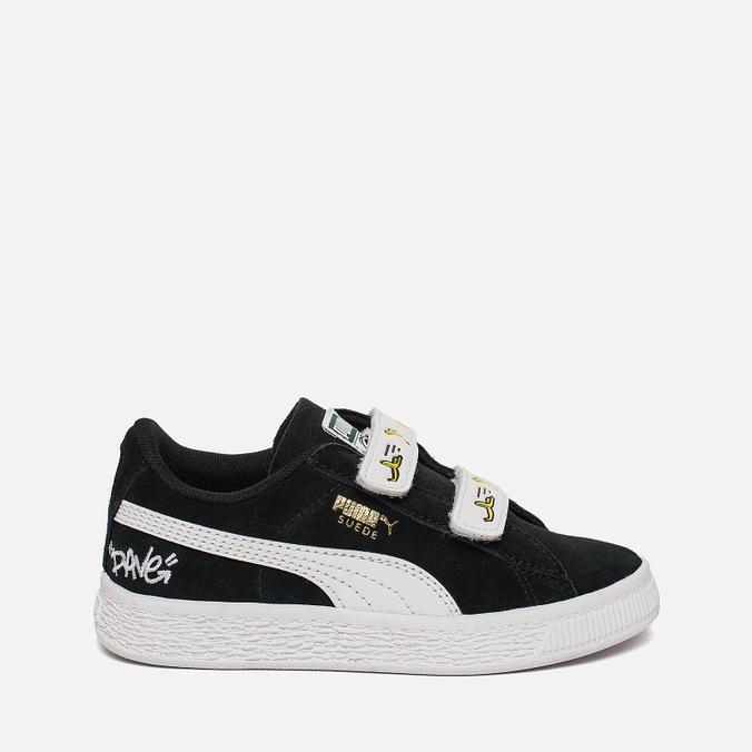 Кроссовки для малышей Puma Minions Suede V PS Black White 365528-03 35f285d46