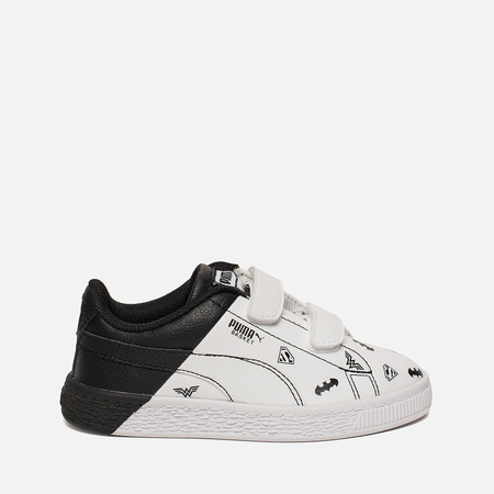 Кроссовки для малышей Puma x Justice League Basket V PS White/White/Black