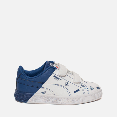 Кроссовки для малышей Puma x Justice League Basket V PS White/White/Limoges