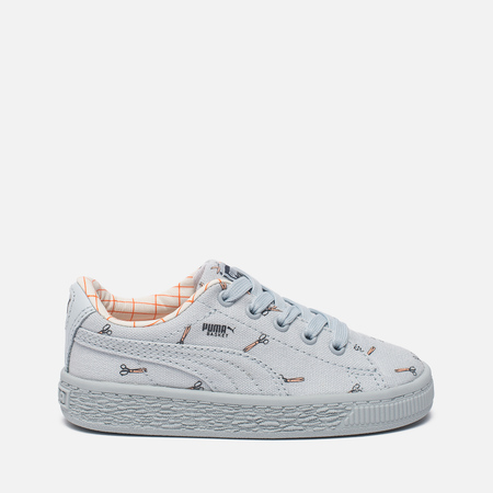 Кроссовки для малышей Puma x tinycottons Basket Canvas Infant Illusion Blue