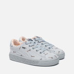 Кроссовки для малышей Puma x tinycottons Basket Canvas Infant Illusion Blue фото- 2