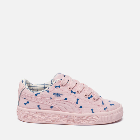 Кроссовки для малышей Puma x tinycottons Basket Canvas Infant Pink Dogwood