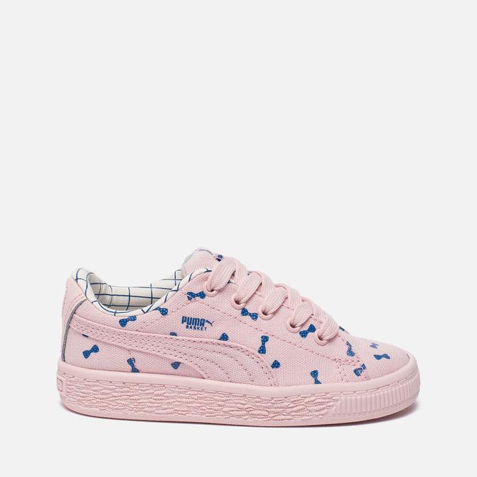 Кроссовки для малышей Puma x tinycottons Basket Canvas Infant Pink Dogwood