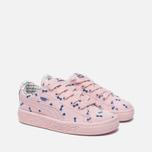 Кроссовки для малышей Puma x tinycottons Basket Canvas Infant Pink Dogwood фото- 2