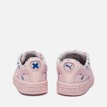 Кроссовки для малышей Puma x tinycottons Basket Canvas Infant Pink Dogwood фото- 3