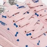 Кроссовки для малышей Puma x tinycottons Basket Canvas Infant Pink Dogwood фото- 5