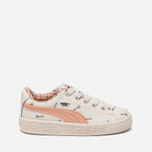 Кроссовки для малышей Puma x tinycottons Basket Canvas Infant Whisper White/Peach Nougat фото- 0