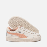 Кроссовки для малышей Puma x tinycottons Basket Canvas Infant Whisper White/Peach Nougat фото- 1
