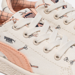 Кроссовки для малышей Puma x tinycottons Basket Canvas Infant Whisper White/Peach Nougat фото- 5