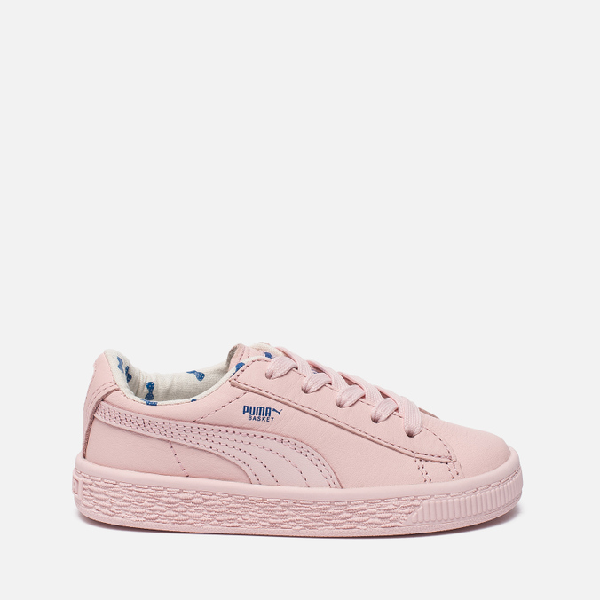 Кроссовки для малышей Puma x tinycottons Basket Leather Infant Pink Dogwood