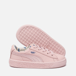 Кроссовки для малышей Puma x tinycottons Basket Leather Infant Pink Dogwood фото- 1