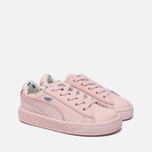Кроссовки для малышей Puma x tinycottons Basket Leather Infant Pink Dogwood фото- 2