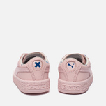Кроссовки для малышей Puma x tinycottons Basket Leather Infant Pink Dogwood фото- 3