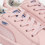Кроссовки для малышей Puma x tinycottons Basket Leather Infant Pink Dogwood фото- 5