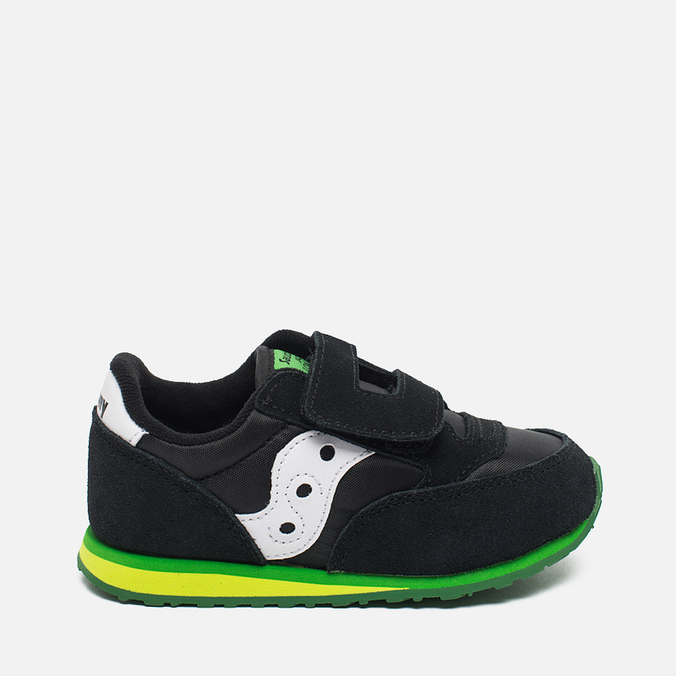 Saucony Toddler Jazz HL Childrens's Sneakers Black/Green