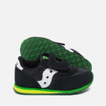 Saucony Toddler Jazz HL Childrens's Sneakers Black/Green photo- 2