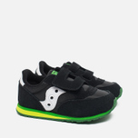 Saucony Toddler Jazz HL Childrens's Sneakers Black/Green photo- 1