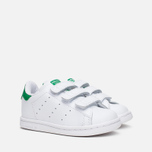 Кроссовки для малышей adidas Originals Stan Smith CF I White/White/Green фото- 1