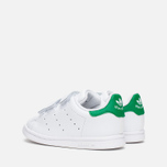Кроссовки для малышей adidas Originals Stan Smith CF I White/White/Green фото- 2