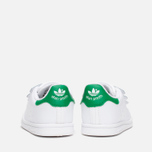 Кроссовки для малышей adidas Originals Stan Smith CF I White/White/Green фото- 3
