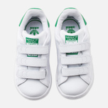 Кроссовки для малышей adidas Originals Stan Smith CF I White/White/Green фото- 4