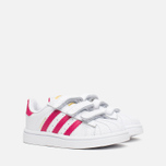Кроссовки для малышей adidas Originals Superstar Foundation CF I White/Bold Pink/White фото- 1
