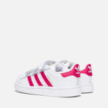 Кроссовки для малышей adidas Originals Superstar Foundation CF I White/Bold Pink/White фото- 2
