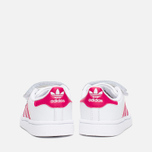 Кроссовки для малышей adidas Originals Superstar Foundation CF I White/Bold Pink/White фото- 3