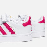 Кроссовки для малышей adidas Originals Superstar Foundation CF I White/Bold Pink/White фото- 5
