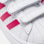 Кроссовки для малышей adidas Originals Superstar Foundation CF I White/Bold Pink/White фото- 7