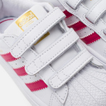 Кроссовки для малышей adidas Originals Superstar Foundation CF I White/Bold Pink/White фото- 6