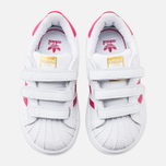 Кроссовки для малышей adidas Originals Superstar Foundation CF I White/Bold Pink/White фото- 4