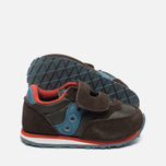 Saucony B Toddler Jazz Triple HL Childrens's Sneakers Brown/Blue photo- 2