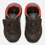Кроссовки для малышей Saucony B Toddler Jazz Triple HL Brown/Blue фото- 4