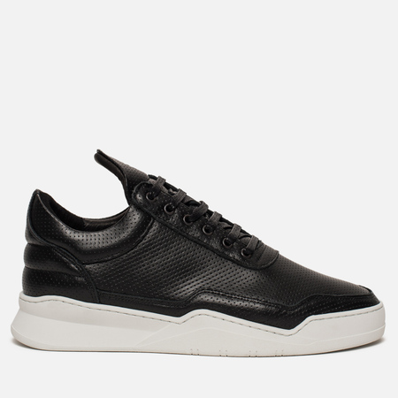 Кроссовки Filling Pieces Low Top Ghost Nappa Perforated Black