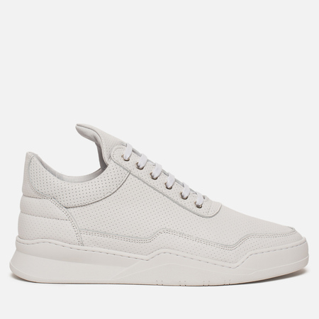 Кроссовки Filling Pieces Low Top Ghost Nappa Perforated White