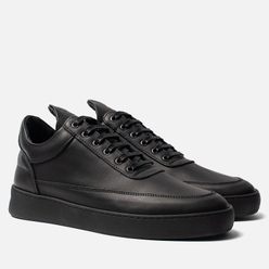 Кроссовки Filling Pieces Low Top Plain Matt Nappa All Black