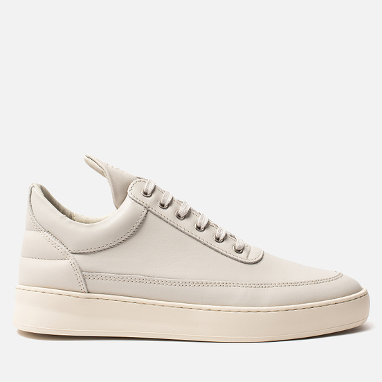 Кроссовки Filling Pieces Low Top Plain Matt Nappa Off White