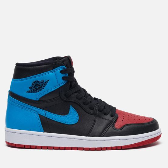 Женские кроссовки Jordan Wmns Air Jordan 1 High OG UNC To Chicago Black/Dark Powder Blue/Gym Red