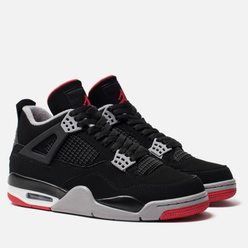 Кроссовки Jordan Air Jordan 4 Retro Black/Fire Red/Cement Grey/Summit White