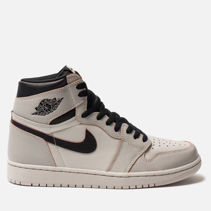 Кроссовки Jordan x Nike SB Air Jordan 1 High OG Defiant Light Bone/Crimson Tint/Hyper Pink/Black