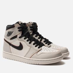 Кроссовки Jordan x Nike SB Air Jordan 1 High OG Defiant Light Bone/Crimson Tint/Hyper Pink/Black