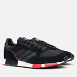 Мужские кроссовки adidas Originals Boston Super Black/Red фото- 1