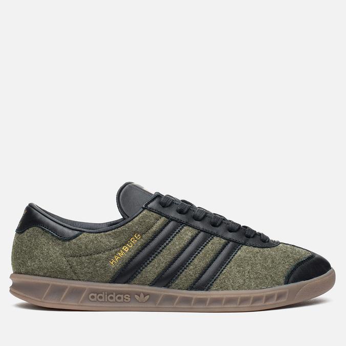 adidas Originals Hamburg Wool Pack Sneakers Jungle Ink/Black/Gum